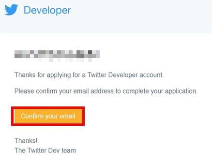メール認証!「Confirm your email」ボタンをクリック!